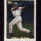1995 Topps Baseball Cyberstats #043 Mike Kelly - Atlanta Braves