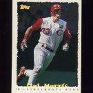 1995 Topps Baseball Cyberstats #022 Hal Morris - Cincinnati Reds