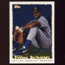 1995 Topps Baseball Cyberstats #007 Delino DeShields - Los Angeles Dodgers