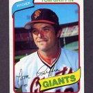 1980 Topps Baseball #649 Tom Griffin - San Francisco Giants