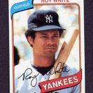 1980 Topps Baseball #648 Roy White - New York Yankees