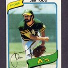 1980 Topps Baseball #629 Jim Todd - Oakland A's