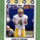 2008 Topps Football #034A Brett Favre - Green Bay Packers