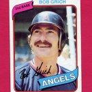 1980 Topps Baseball #621 Bob Grich - California Angels Ex