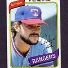 1980 Topps Baseball #620 Richie Zisk - Texas Rangers