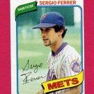 1980 Topps Baseball #619 Sergio Ferrer - New York Mets ExMt