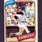 1980 Topps Baseball #600 Reggie Jackson - New York Yankees NM-M