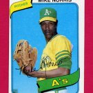 1980 Topps Baseball #599 Mike Norris - Oakland A's ExMt