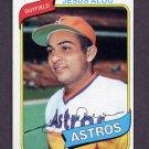 1980 Topps Baseball #593 Jesus Alou - Houston Astros