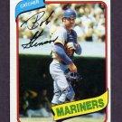 1980 Topps Baseball #583 Bob Stinson - Seattle Mariners
