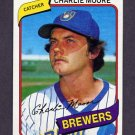 1980 Topps Baseball #579 Charlie Moore - Milwaukee Brewers