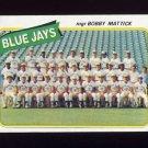 1980 Topps Baseball #577 Toronto Blue Jays CL / Bobby Mattick Ex