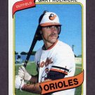 1980 Topps Baseball #568 Gary Roenicke RC - Baltimore Orioles