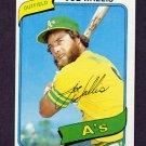1980 Topps Baseball #562 Joe Wallis - Oakland A's