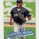 1997 Ultra Baseball #187 Quinton McCracken - Colorado Rockies