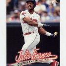 1997 Ultra Baseball #048 Julio Franco - Cleveland Indians