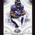 2008 Donruss Threads Football #094 Willis McGahee - Baltimore Ravens