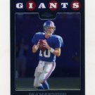 2008 Topps Chrome Football #TC013 Eli Manning - New York Giants