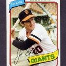 1980 Topps Baseball #538 Joe Strain - San Francisco Giants