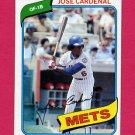 1980 Topps Baseball #512 Jose Cardenal - New York Mets