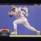 1992 Stadium Club Baseball #750 Rickey Henderson - Oakland A's ExMt