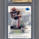 2001 UD Graded Football #69 Rudi Johnson RC - Cincinnati Bengals Graded BGS 9.5 GEM MINT