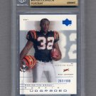 2001 UD Graded Football #69P Rudi Johnson RC - Cincinnati Bengals /900 Graded BGS 9.5 GEM MINT