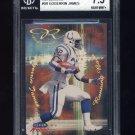1999 Fleer Focus Reflexions #9R Edgerrin James RC - Indianapolis Colts 008/100 Graded BGS 7.5