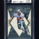 1998 Black Diamond Rookies White Onyx #ON13 Dan Marino - Miami Dolphins 0240/2250 Graded BGS 7.5