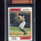 1974 Topps Baseball #300 Pete Rose - Cincinnati Reds Graded BVG 8