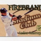1997 Stadium Club Baseball Firebrand Wood #F4 Andres Galarraga - Colorado Rockies