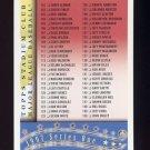 1997 Stadium Club Baseball #2 of 4 Checklist Card