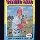 1975 Topps Baseball #059 Ken Henderson - Chicago White Sox