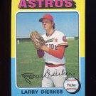 1975 Topps Baseball #049 Larry Dierker - Houston Astros