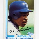1982 Topps Baseball #329 U.L. Washington - Kansas City Royals