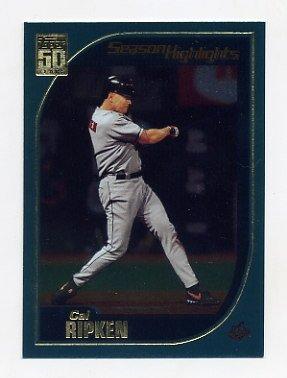 2001 Topps Baseball #387 Cal Ripken SH - Baltimore Orioles