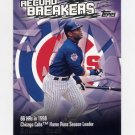 2003 Topps Record Breakers Baseball #SS1 Sammy Sosa - Chicago Cubs