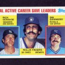 1984 Topps #718 AL Active Career Save Leaders Rich Gossage / Rollie Fingers / Dan Quisenberry