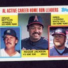1984 Topps #712 AL Active Career Home Run Leaders Reggie Jackson / Graig Nettles / Greg Luzinski
