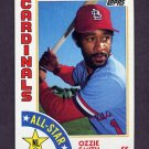 1984 Topps Baseball #389 Ozzie Smith AS - St. Louis Cardinals