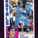 1984 Topps Baseball #196 Don Slaught - Kansas City Royals