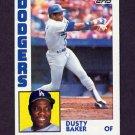 1984 Topps Baseball #040 Dusty Baker - Los Angeles Dodgers
