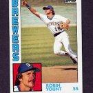 1984 Topps Baseball #010 Robin Yount - Milwaukee Brewers