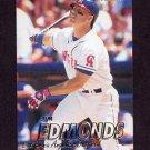 1997 Fleer Baseball #040 Jim Edmonds - California Angels