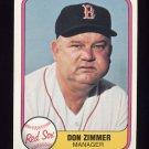 1981 Fleer Baseball #230 Don Zimmer MG - Boston Red Sox