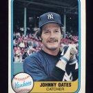 1981 Fleer Baseball #099 Johnny Oates - New York Yankees