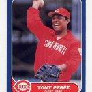 1986 Fleer Baseball #186 Tony Perez - Cincinnati Reds