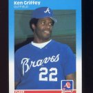 1987 Fleer Baseball #516 Ken Griffey - Atlanta Braves