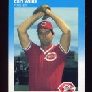 1987 Fleer Baseball #218 Carl Willis RC - Cincinnati Reds