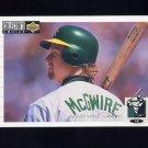 1994 Collector's Choice Baseball #525 Mark McGwire - Oakland A's